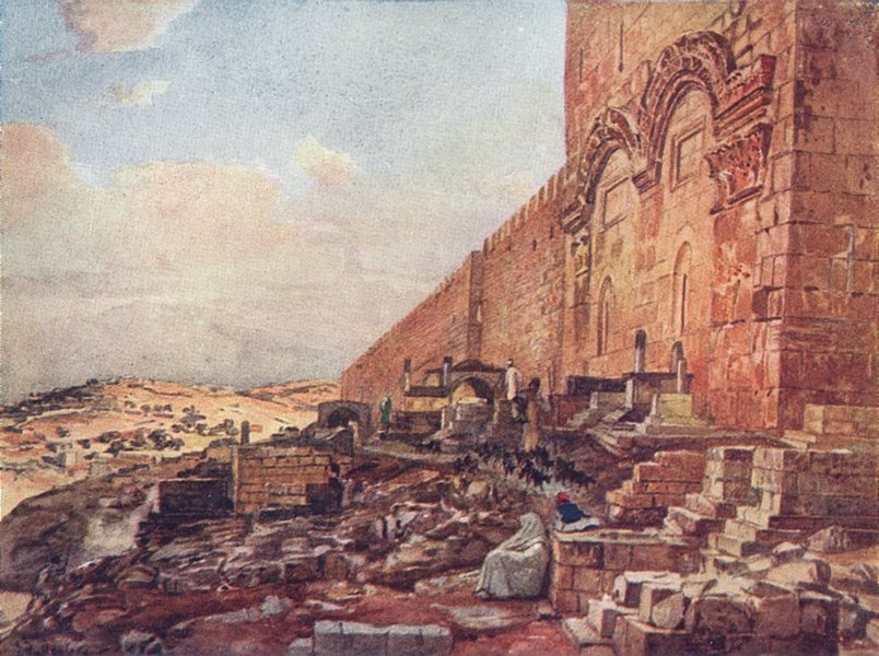 Associate Product JERUSALEM. Of golden beautiful gate 1902 antique vintage print picture