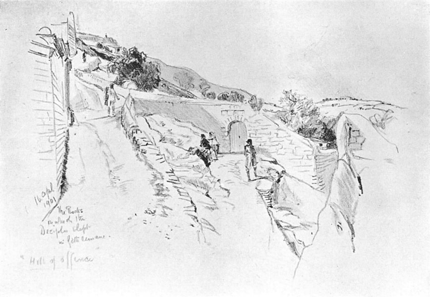 Associate Product ISRAEL. Mount of Olives, disciples slept during Agony, garden 1902 old print