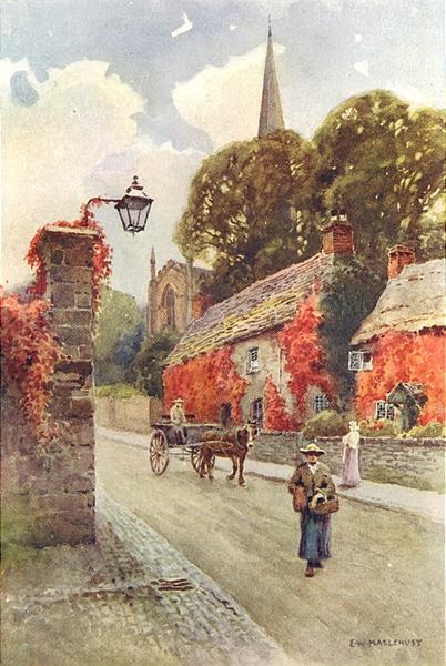 Associate Product Bakewell, South Church street, Peak District. Derbyshire. Ernest Haslehust 1920