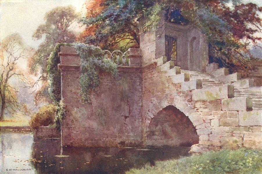 Queen Mary's Bower, Chatsworth, Peak District. Derbyshire.Ernest Haslehust 1920