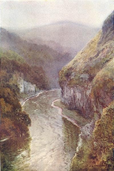 Associate Product The Wye near Cressbrook Dale, Peak District. Derbyshire. Ernest Haslehust 1920