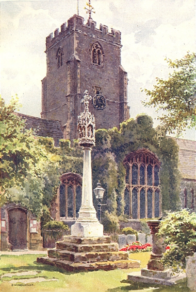 Associate Product Parish Church, Folkestone. Kent. By Ernest Haslehust 1920 old vintage print
