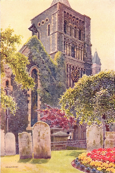 Associate Product St. Mary's Church, Dover. Kent. By Ernest Haslehust 1920 old vintage print