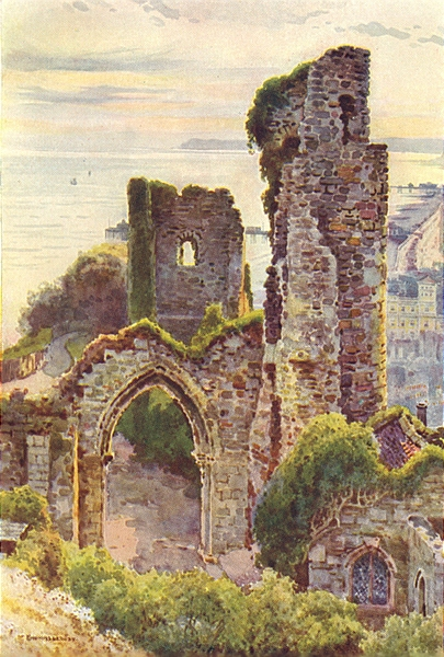 Associate Product Hastings Castle. Sussex. By Ernest Haslehust 1920 old vintage print picture