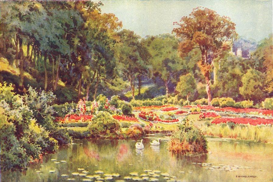 Associate Product St. Leonards Gardens. Sussex. By Ernest Haslehust 1920 old vintage print