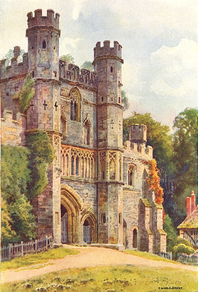 Associate Product The Gateway, Battle Abbey. Sussex. By Ernest Haslehust 1920 old vintage print