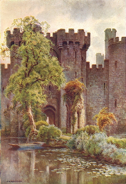 Associate Product Bodiam Castle. Sussex. By Ernest Haslehust 1920 old vintage print picture