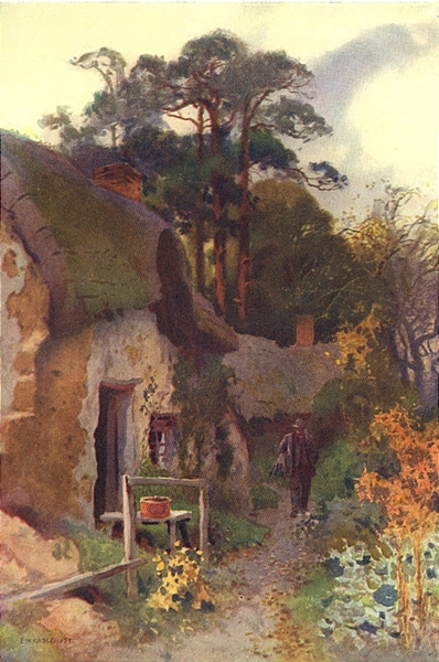 Associate Product Squatter's Cottage, the New Forest. Hampshire. By Ernest Haslehust 1920 print