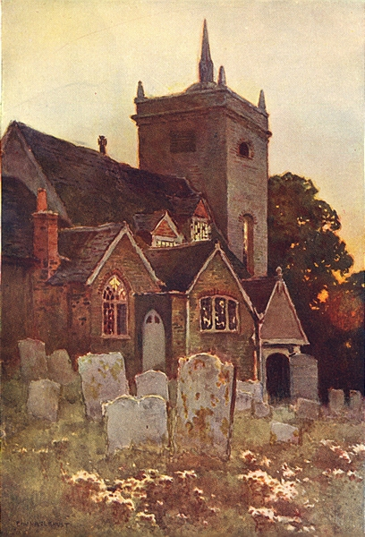 Associate Product Minstead Church, the New Forest. Hampshire. By Ernest Haslehust 1920 old print