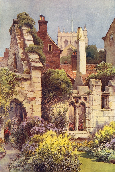 Associate Product Ruins of St. Anne's Chapel, Ripon. Yorkshire. By Ernest Haslehust 1920 print