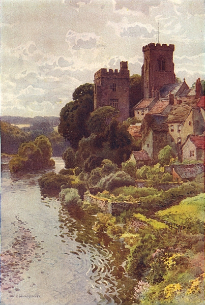 Associate Product The Old-World Village of Tanfield. Yorkshire. By Ernest Haslehust 1920 print