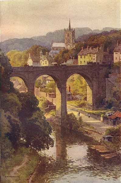 The historical Old Town of Knaresborough. Yorkshire. By Ernest Haslehust 1920