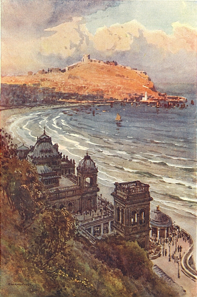 Associate Product The Spa and South Bay, Scarborough. Yorkshire. By Ernest Haslehust 1920 print