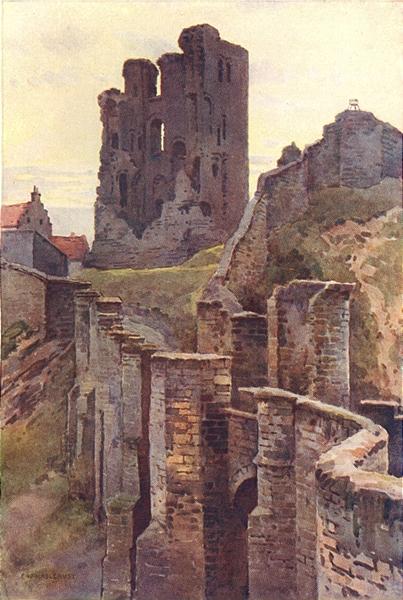 Associate Product Scarborough Castle. Yorkshire. By Ernest Haslehust 1920 old antique print
