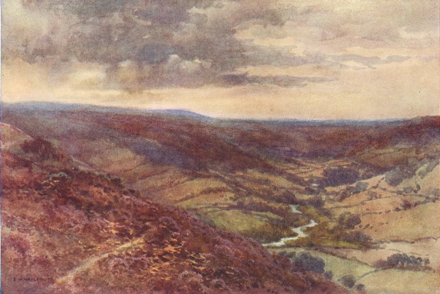 Associate Product The Moors near Hackness, Scarborough. Yorkshire. By Ernest Haslehust 1920