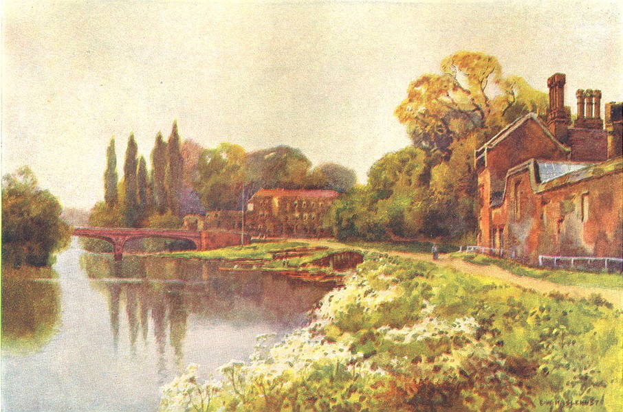 Associate Product At Hampton Court. London. By Ernest Haslehust 1920 old vintage print picture