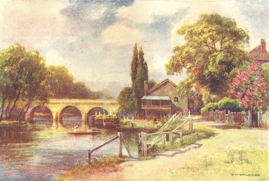 Associate Product Maidenhead Bridge. Berkshire. By Ernest Haslehust 1920 old vintage print
