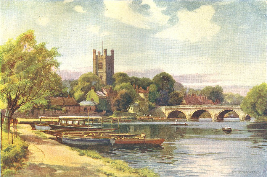 Associate Product Henley. Oxfordshire. By Ernest Haslehust 1920 old vintage print picture