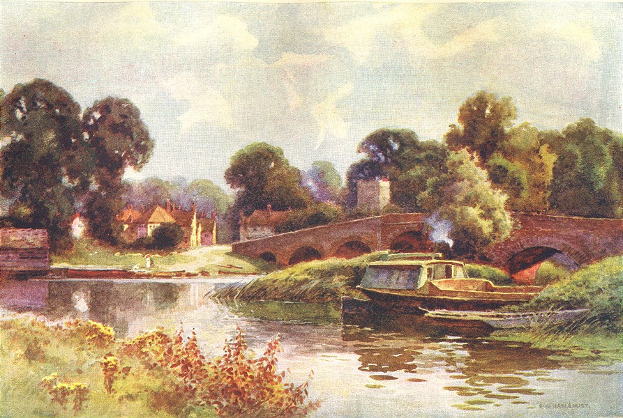 Associate Product Sonning. Berkshire. By Ernest Haslehust 1920 old vintage print picture