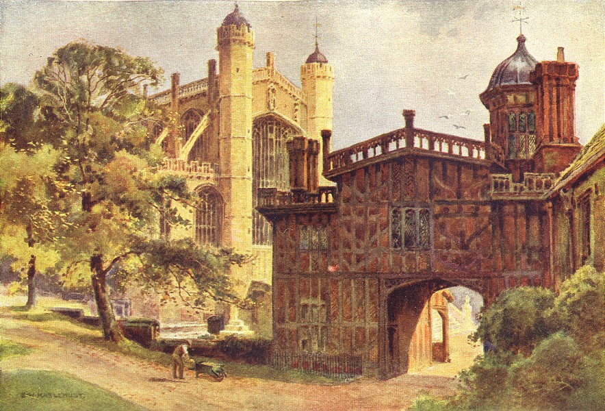 Associate Product The Horse-Shoe Cloisters & St. George's Chapel, Windsor Castle. Haslehust 1920