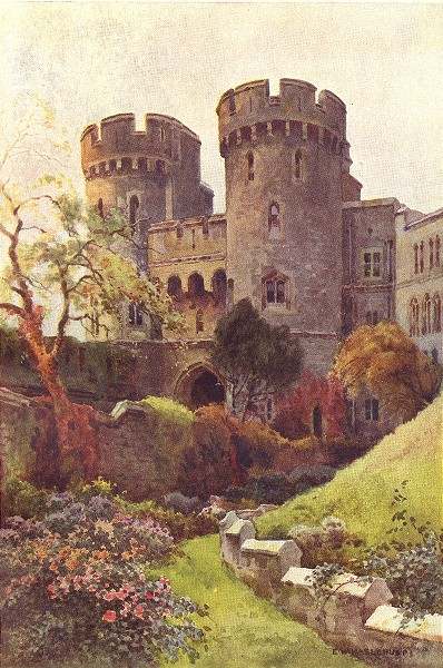 Associate Product The Norman Gate, Windsor Castle. Berkshire. By Ernest Haslehust 1920 old print