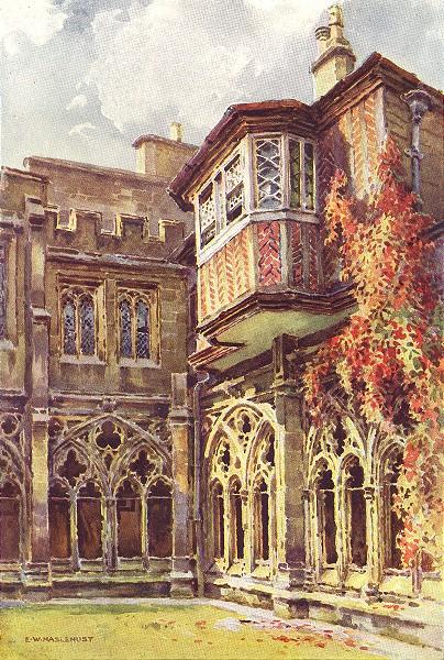 Associate Product Anne Boleyn's window, Dean's Cloisters, Windsor Castle. Ernest Haslehust 1920