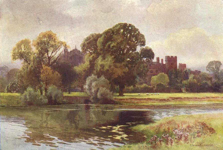 Associate Product Eton College from Windsor, Windsor Castle. Berkshire. By Ernest Haslehust 1920