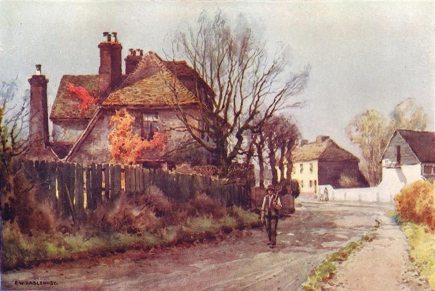 Associate Product Chalk, house where Dickens spent his honeymoon. Kent. By Ernest Haslehust 1920