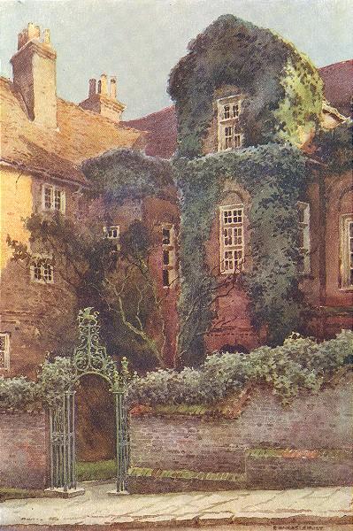 Associate Product Restoration house, Rochester. Kent. By Ernest Haslehust 1920 old vintage print