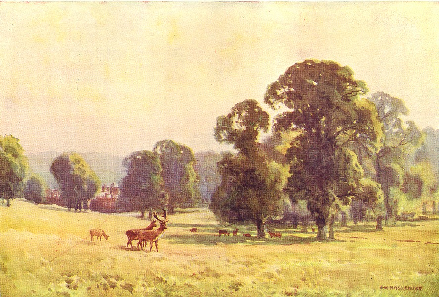 Associate Product Cobham Park. Kent. By Ernest Haslehust 1920 old vintage print picture