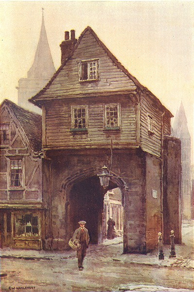 Associate Product Jasper's Gateway. Kent. By Ernest Haslehust 1920 old vintage print picture