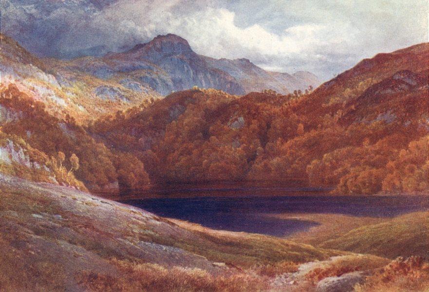 SCOTLAND. Trossachs. Ben A' An(Seen from Loch Kathrine) 1911 old antique print