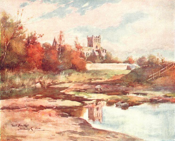 SCOTLAND. Jedburgh Abbey 1912 old antique vintage print picture