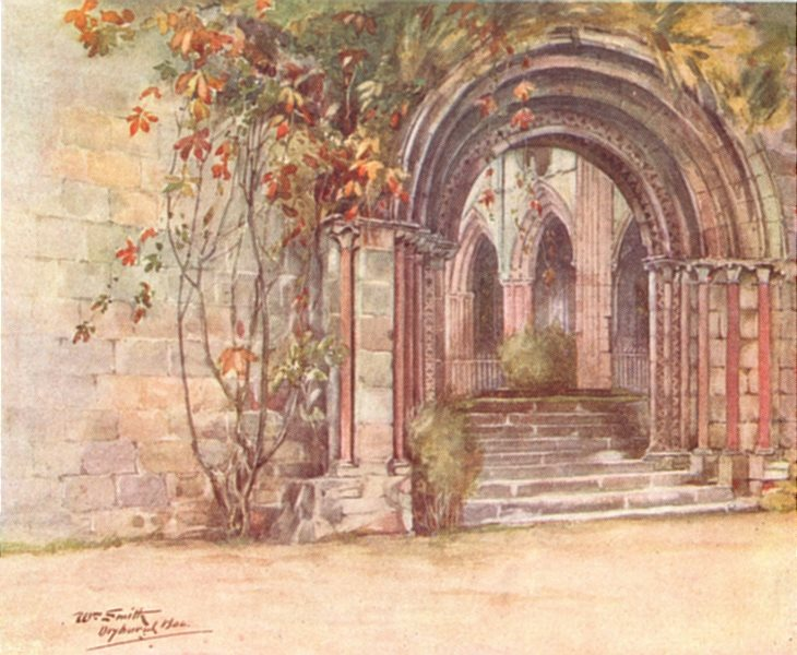 Associate Product SCOTLAND. Dryburgh Abbey 1912 old antique vintage print picture