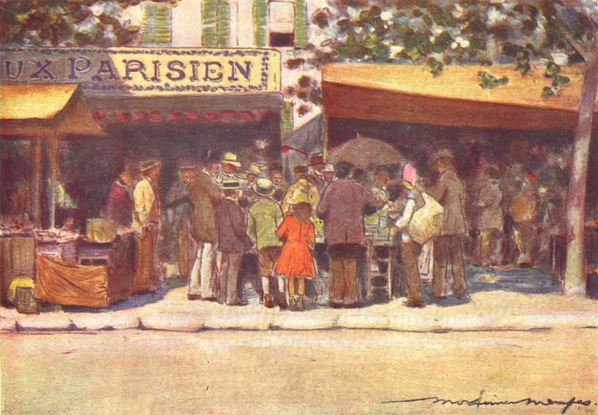 Associate Product PARIS. Curiosity 1909 old antique vintage print picture
