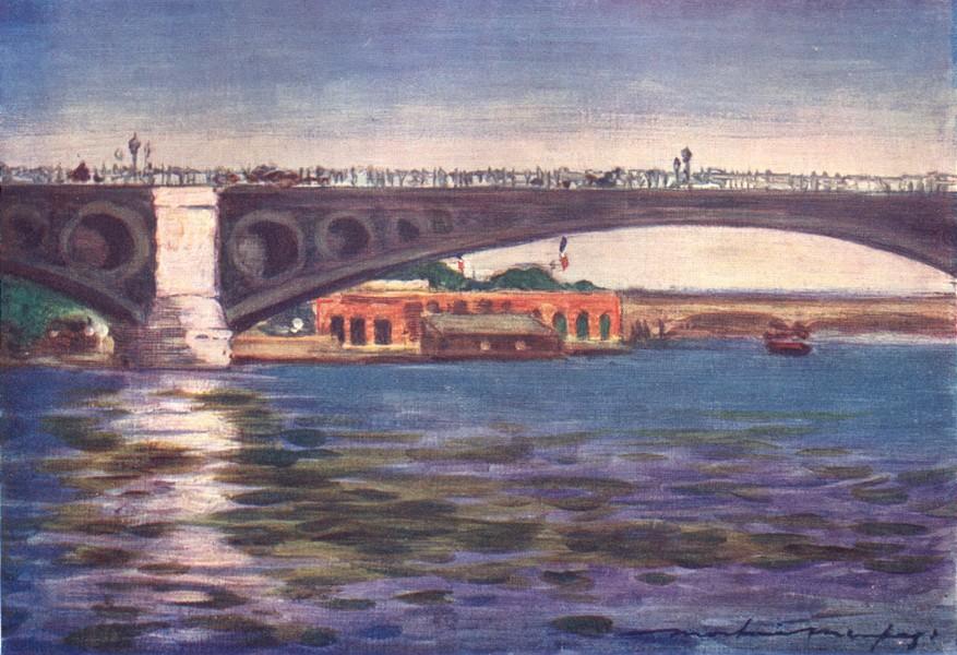Associate Product PARIS. Pont Concorde 1909 old antique vintage print picture