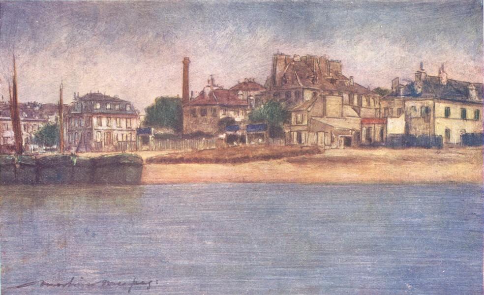 Associate Product PARIS. The Seine near Charenton 1909 old antique vintage print picture