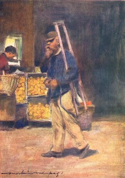 Associate Product PARIS. An Orange Vendor 1909 old antique vintage print picture