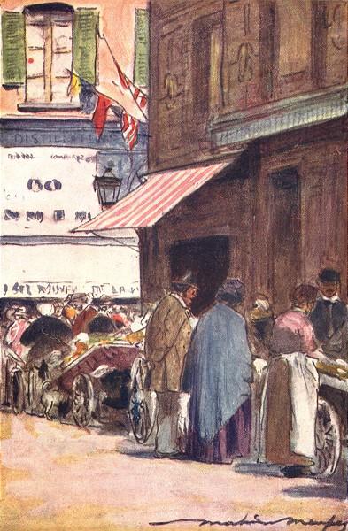 Associate Product PARIS. Marchandes Ambulantes 1909 old antique vintage print picture