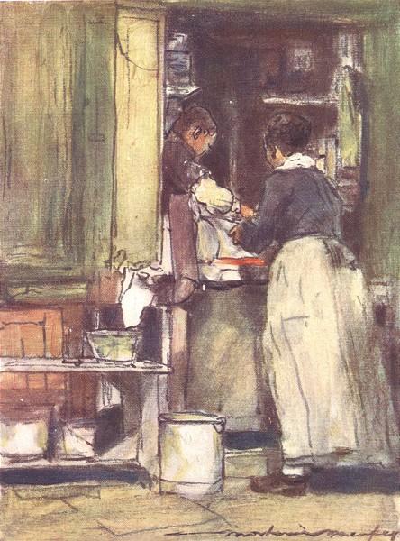 PARIS. Shop near Central Market 1909 old antique vintage print picture