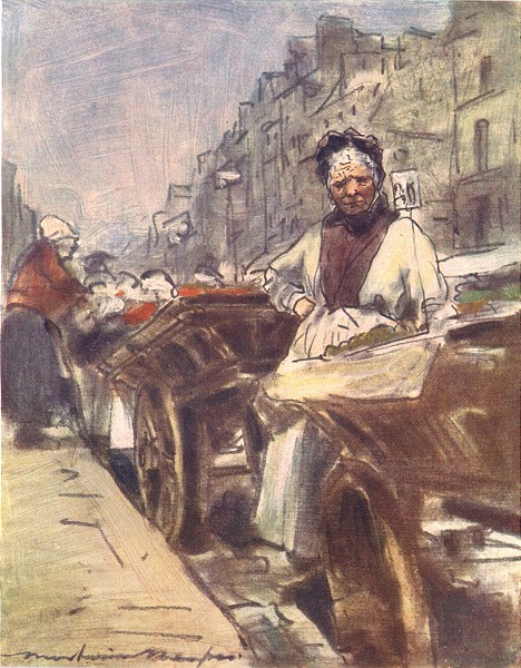 Associate Product PARIS. A Fruit Seller 1909 old antique vintage print picture