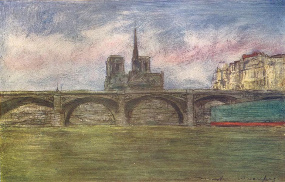 Associate Product PARIS. Pont de Tournelle 1909 old antique vintage print picture