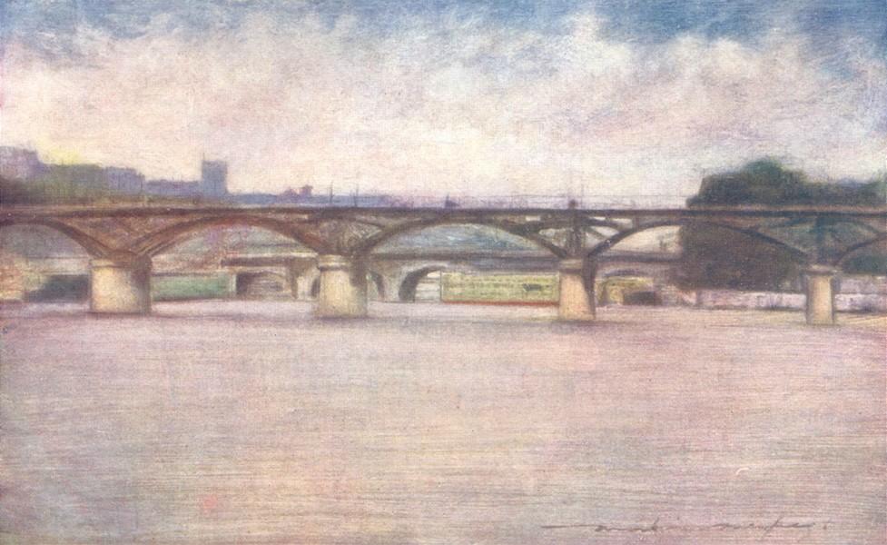 Associate Product PARIS. The Pont des Arts 1909 old antique vintage print picture