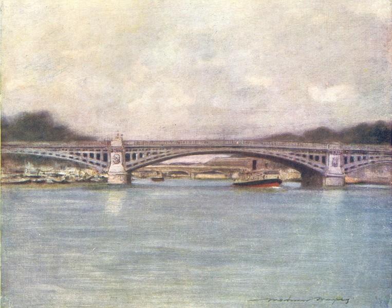 Associate Product PARIS. Pont de Solferiens 1909 old antique vintage print picture