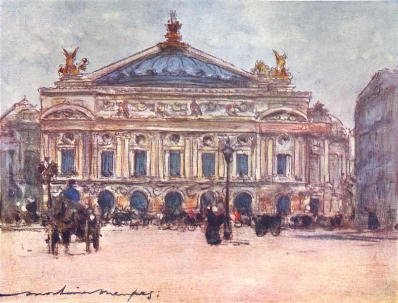 Associate Product PARIS. The Opera 1909 old antique vintage print picture