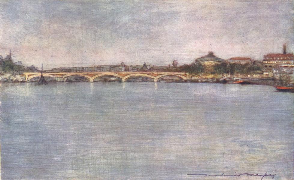 Associate Product PARIS. Pont Nationale 1909 old antique vintage print picture