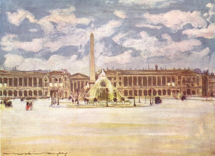 Associate Product PARIS. Place de La Concorde 1909 old antique vintage print picture