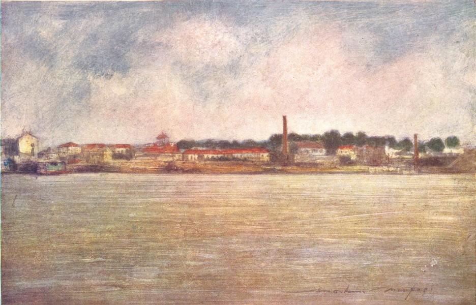 Associate Product PARIS. Factories on the Seine 1909 old antique vintage print picture