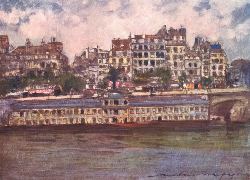Associate Product PARIS. Bathing-House(Samaritaine) 1909 old antique vintage print picture