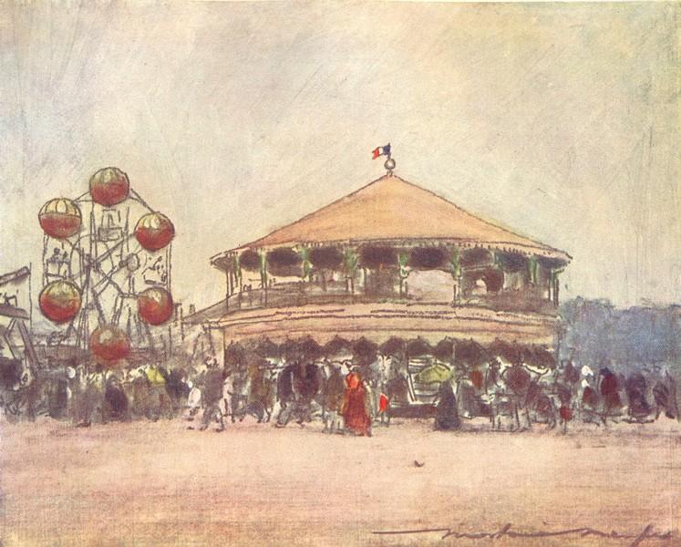 Associate Product PARIS. Fete near Hotel des Invalides 1909 old antique vintage print picture